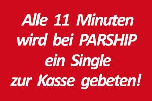Alle 11 Minuten wird bei Parship ein Sinlge zur Kasse gebeten.