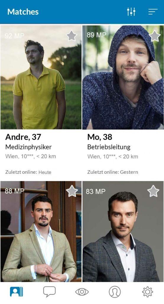 Elitepartner App Matches in Wien