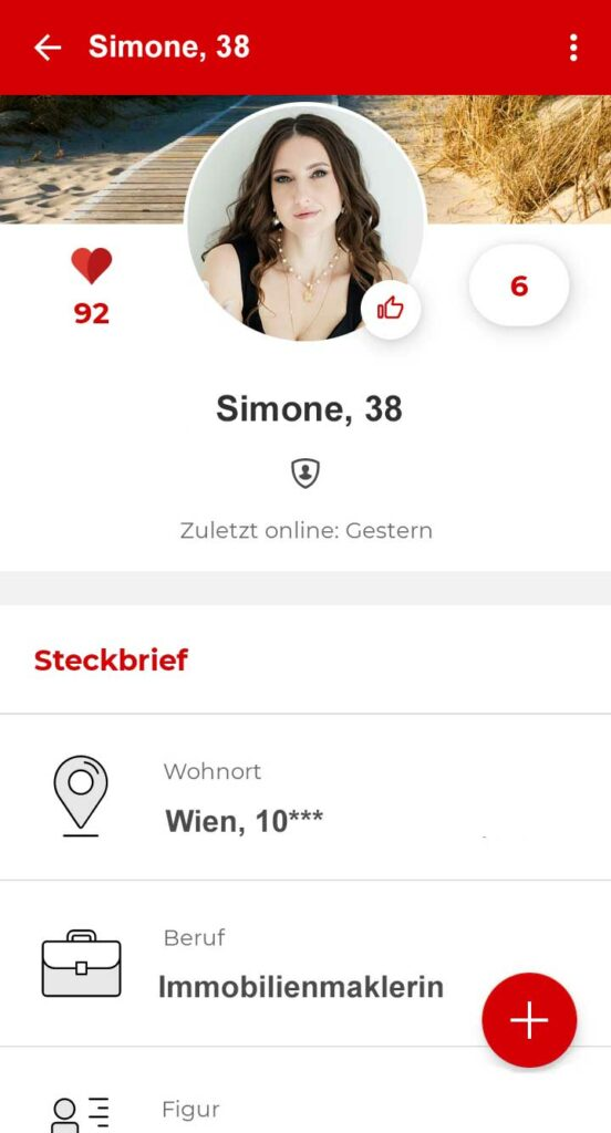 Parship Profil in der App